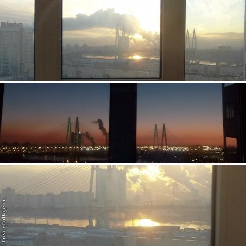 Вид из окна на Октябрьской набережной