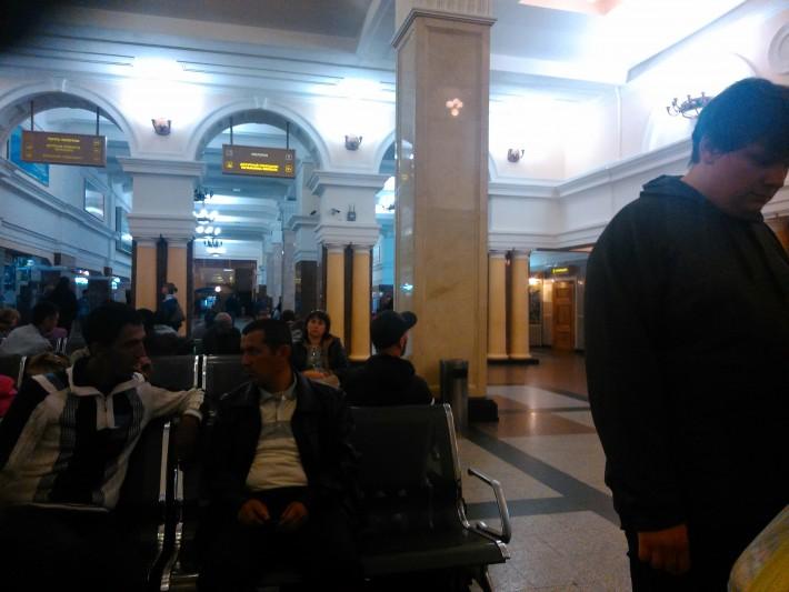 Новосибирский ЖД вокзал, зал ожидания