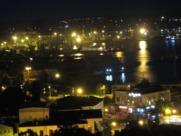Ночная Керчь. Вид с горы Митридат