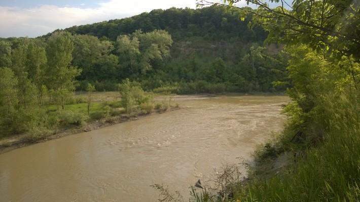 Вид на слияние рек