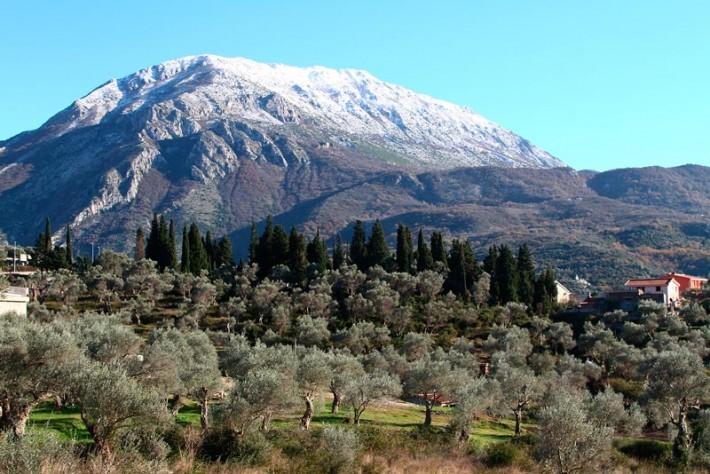 Декабрь в Черногории, Бар. Снег только в горах.