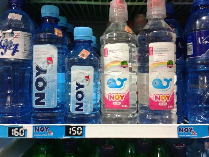 «Ной» - знаменитая питьевая вода в Армении (цены указаны в драмах)