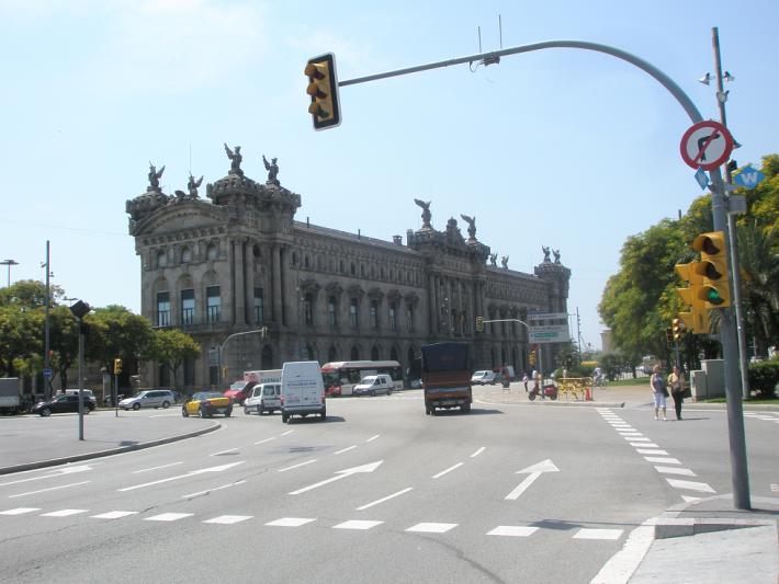 В Барселоне возле Рамблы
