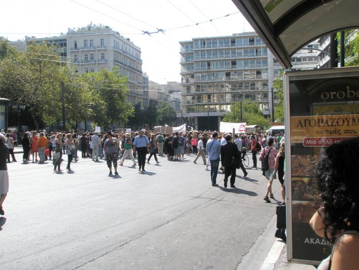 Митинги протеста в Афинах
