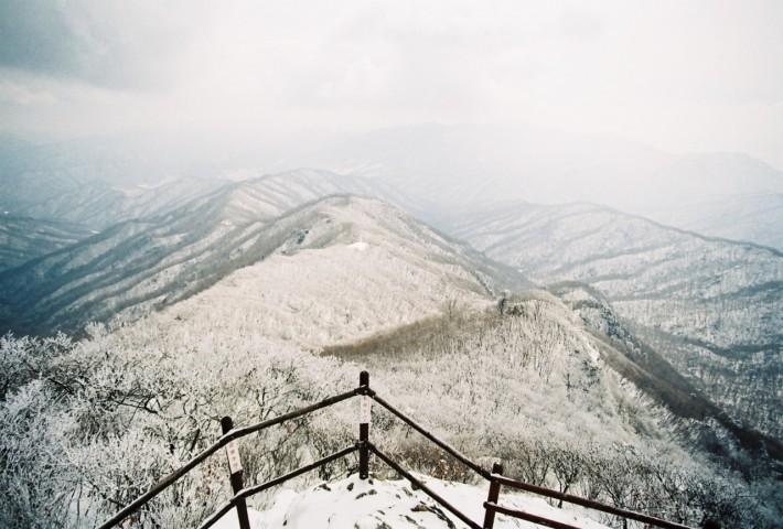 Зима в корейских горах