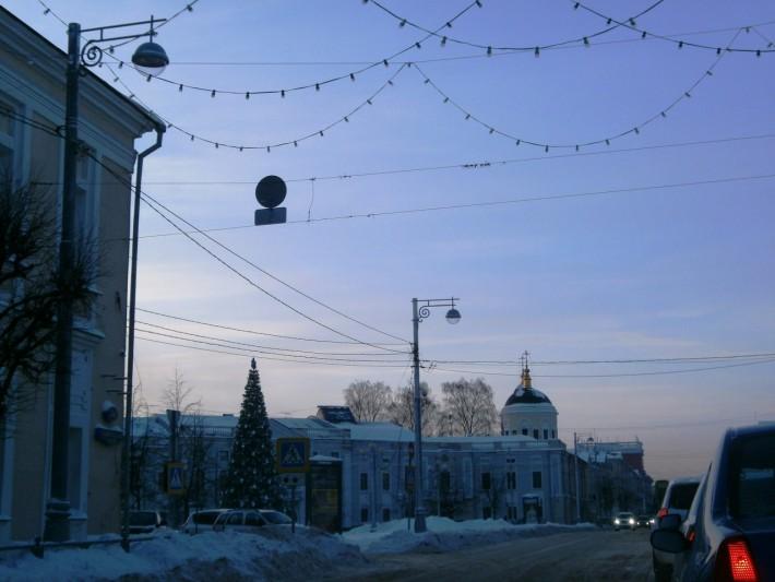 В пробке на ул. Советской
