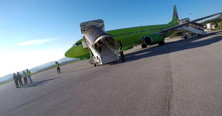 Летим из Черногории в Москву
