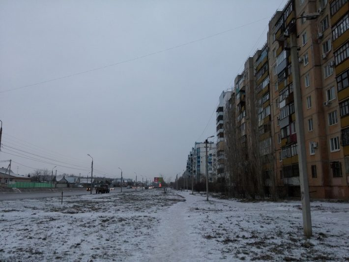 Зимняя пешая прогулка ул. Карбышева