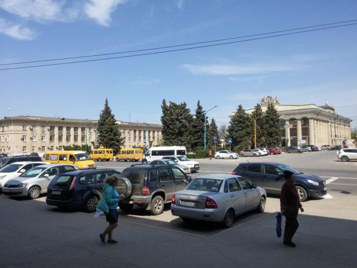 Администрация Волжского. Старая часть города