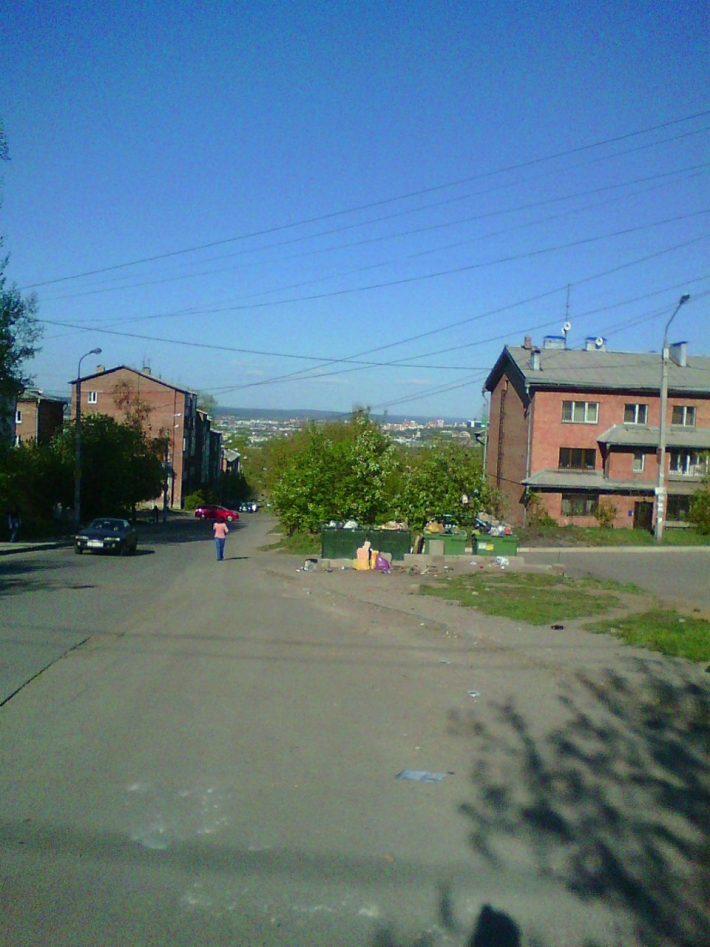 Вид на город с улицы Миронова
