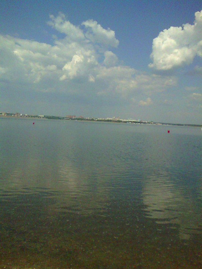 Вид на Ангару с левого берега