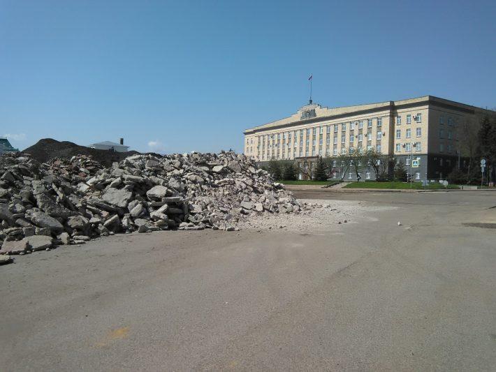 Площадь Ленина. Ремонт