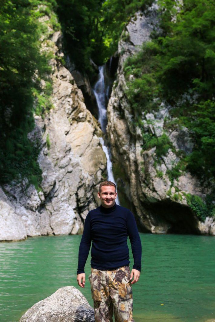 Вот те самые водопады, что недалеко от Мацесты