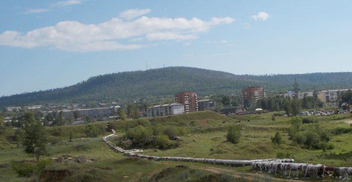 Вид на Осиновку и гору Рудник