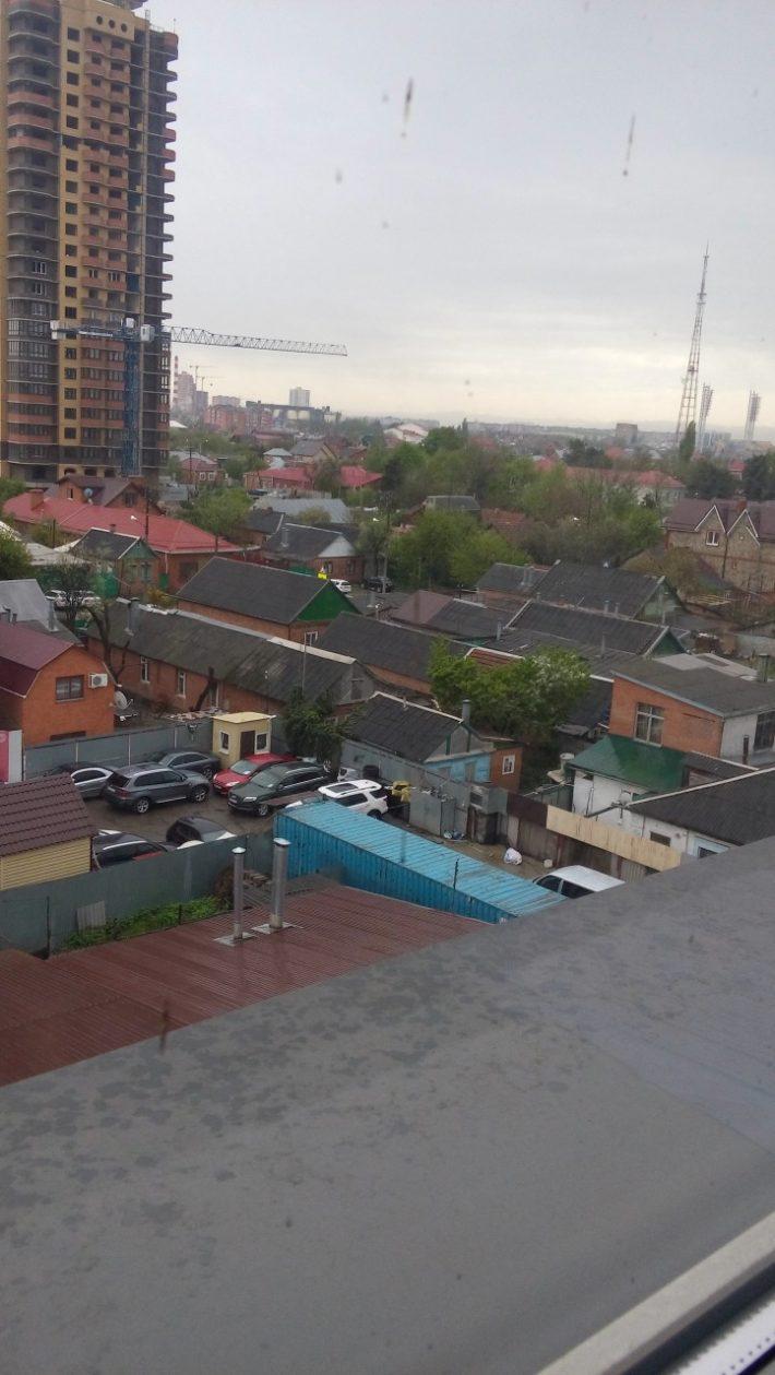 Вид из краснодарской многоэтажки. Неподалеку от стадиона Кубань
