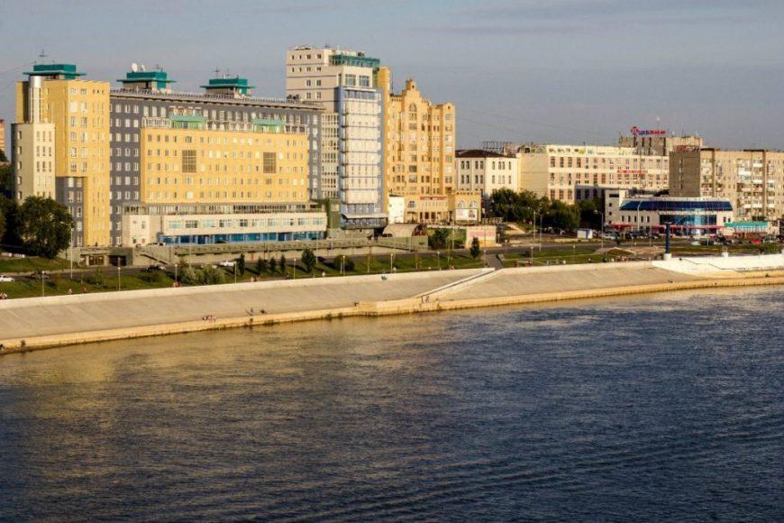 Набережная в Омске