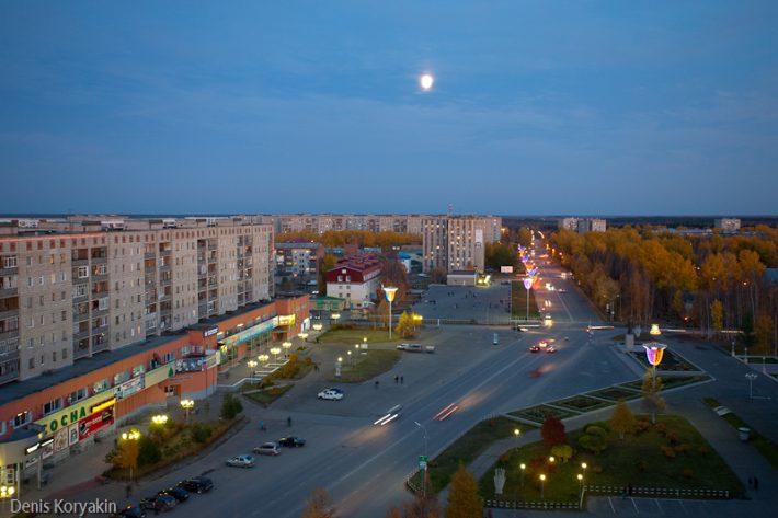 Центр города Стрежевого