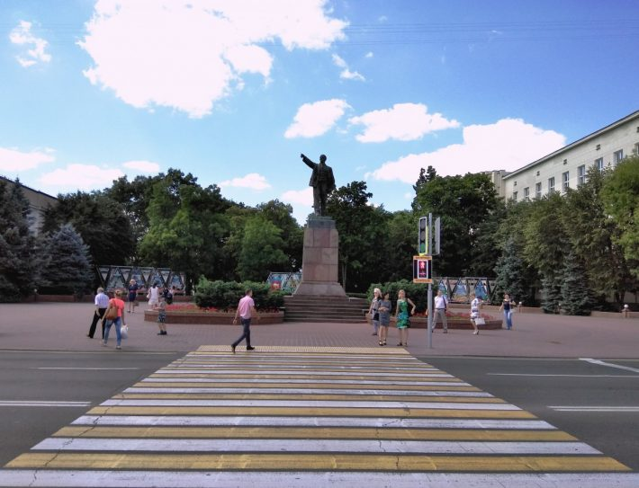 Памятник вождю