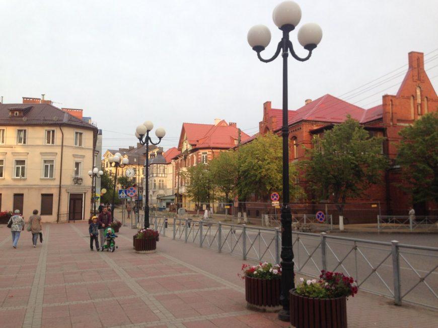 Центр города Зеленоградска