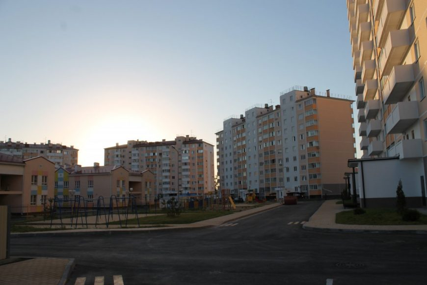 Новые дома в районе Супсехского шоссе