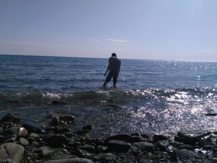Каменистый пляж в Анапе