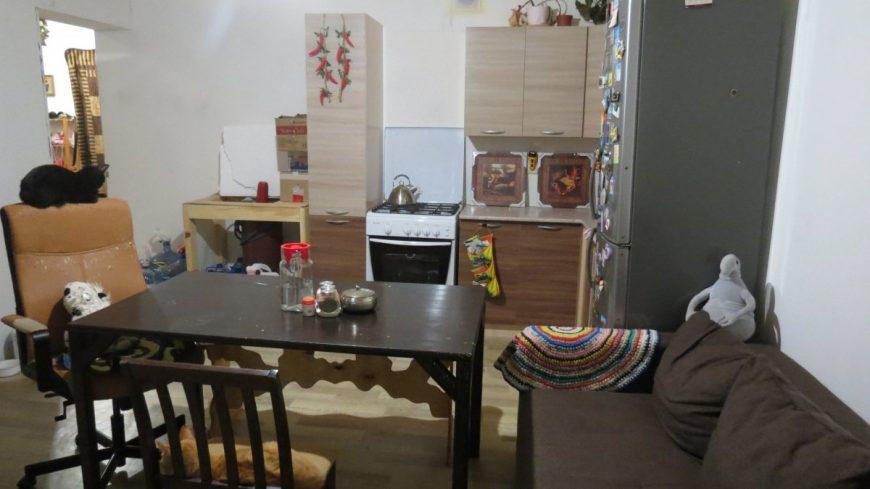 Кухня в нашем нынешнем доме. Балонный газ