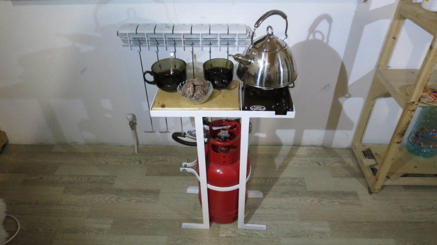 Мобильная газовая плита для приготовления пищи в пути