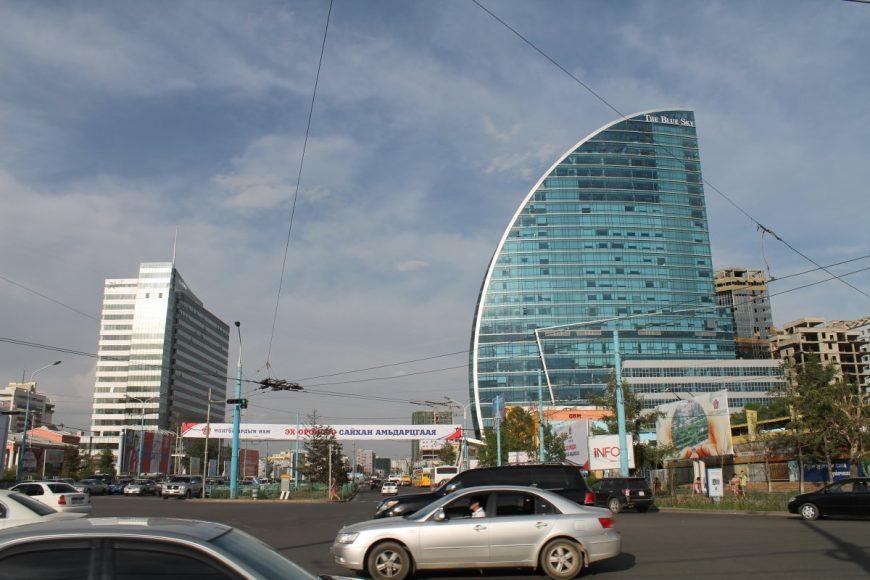 Отель Blue sky на главной площади города
